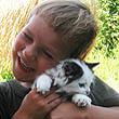 Евгений и котенок Гав