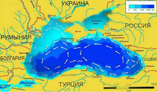 Рельеф Черного моря