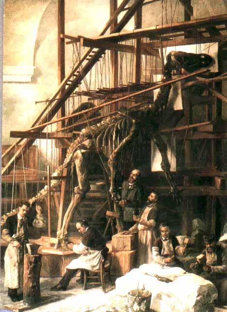 Реконструкция динозавра