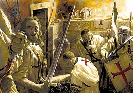 Орден тамплиеров был разгромлен, но рыцари-храмовники не выдали тайну Грааля.