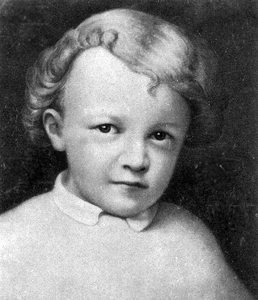 Ленин в возрасте 4 лет.
